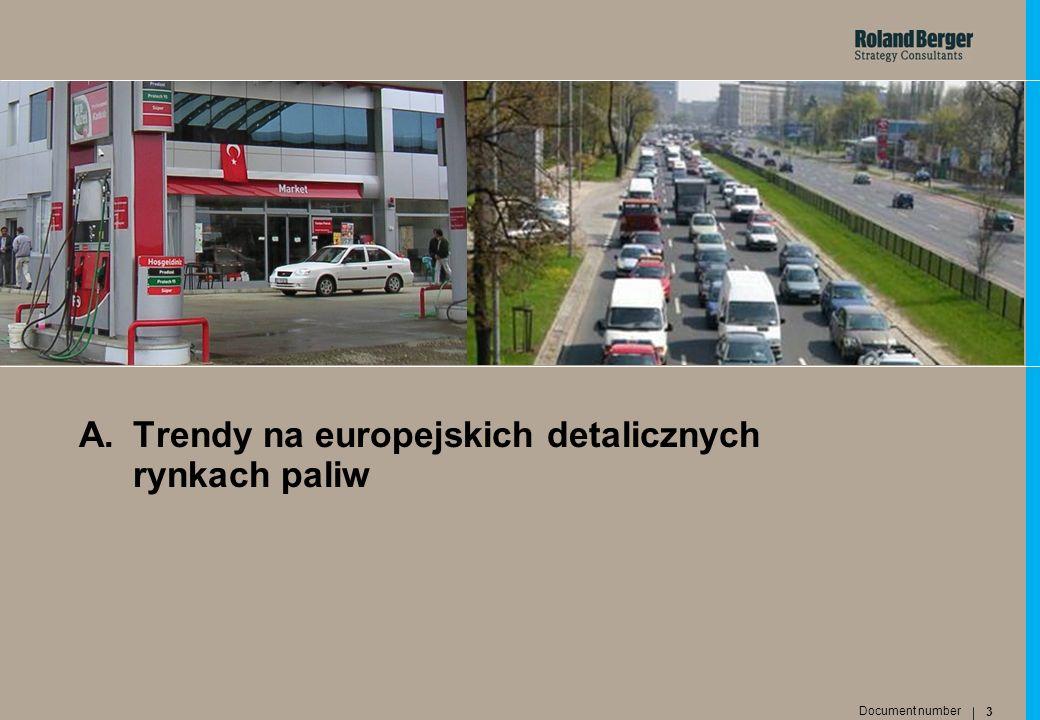 A. Trendy na europejskich detalicznych rynkach paliw