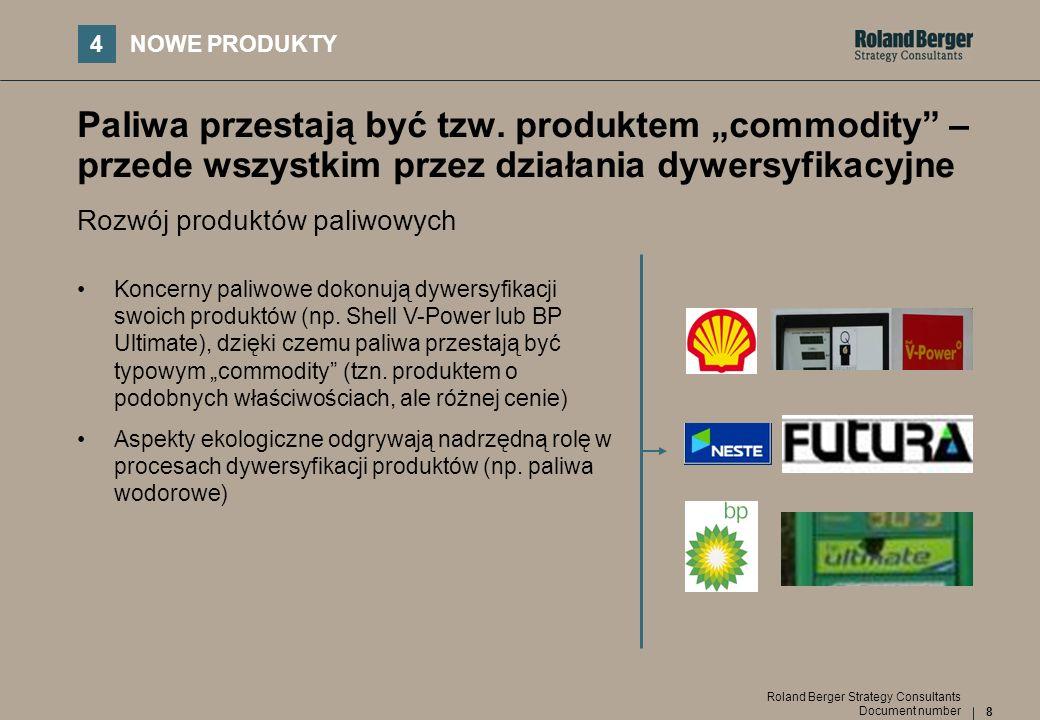 """4NOWE PRODUKTY. Paliwa przestają być tzw. produktem """"commodity – przede wszystkim przez działania dywersyfikacyjne."""