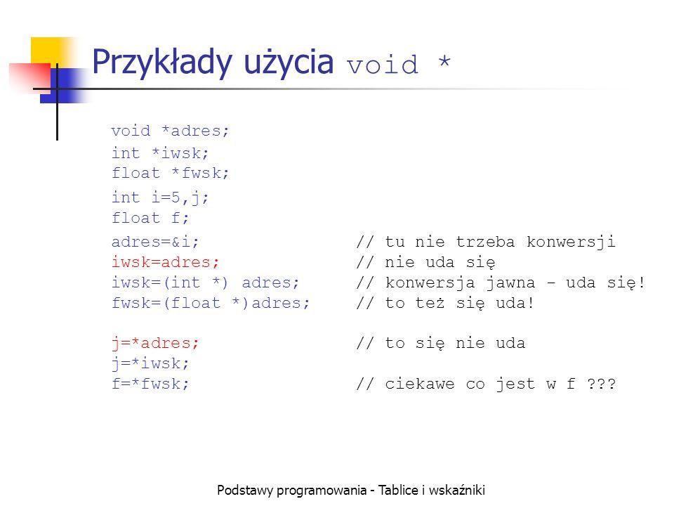 Przykłady użycia void *