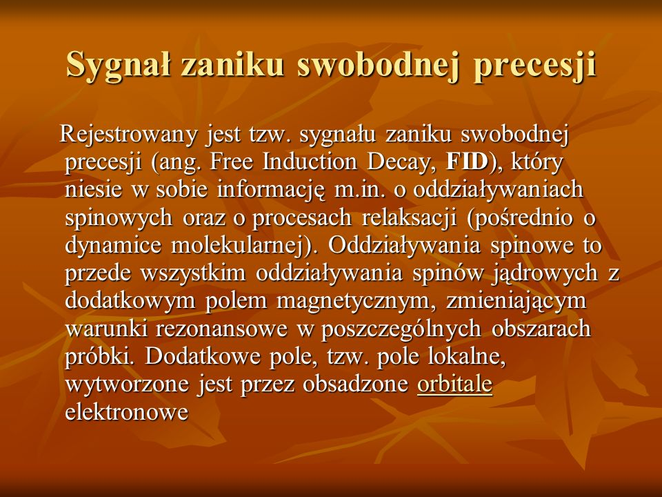 Sygnał zaniku swobodnej precesji