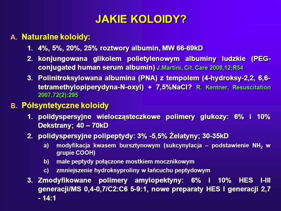 JAKIE KOLOIDY Naturalne koloidy: Półsyntetyczne koloidy
