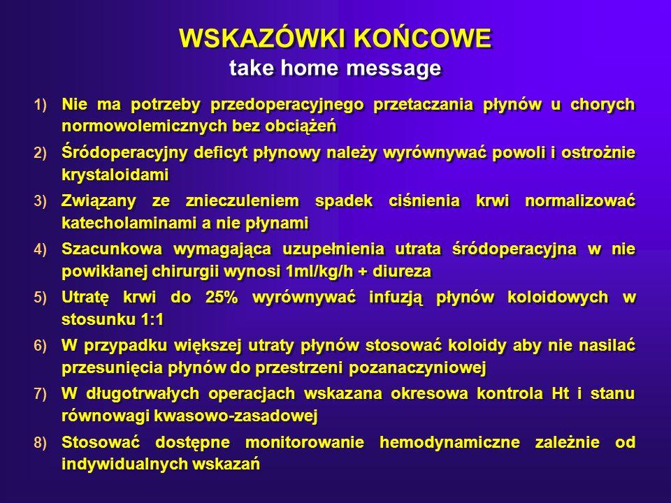 WSKAZÓWKI KOŃCOWE take home message