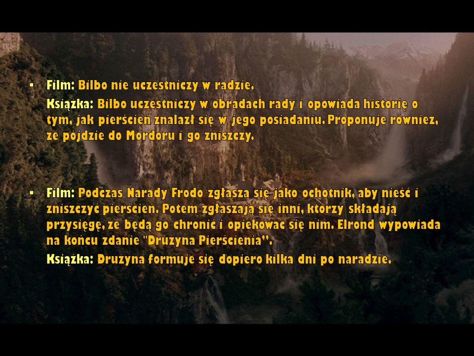 Film: Bilbo nie uczestniczy w radzie.