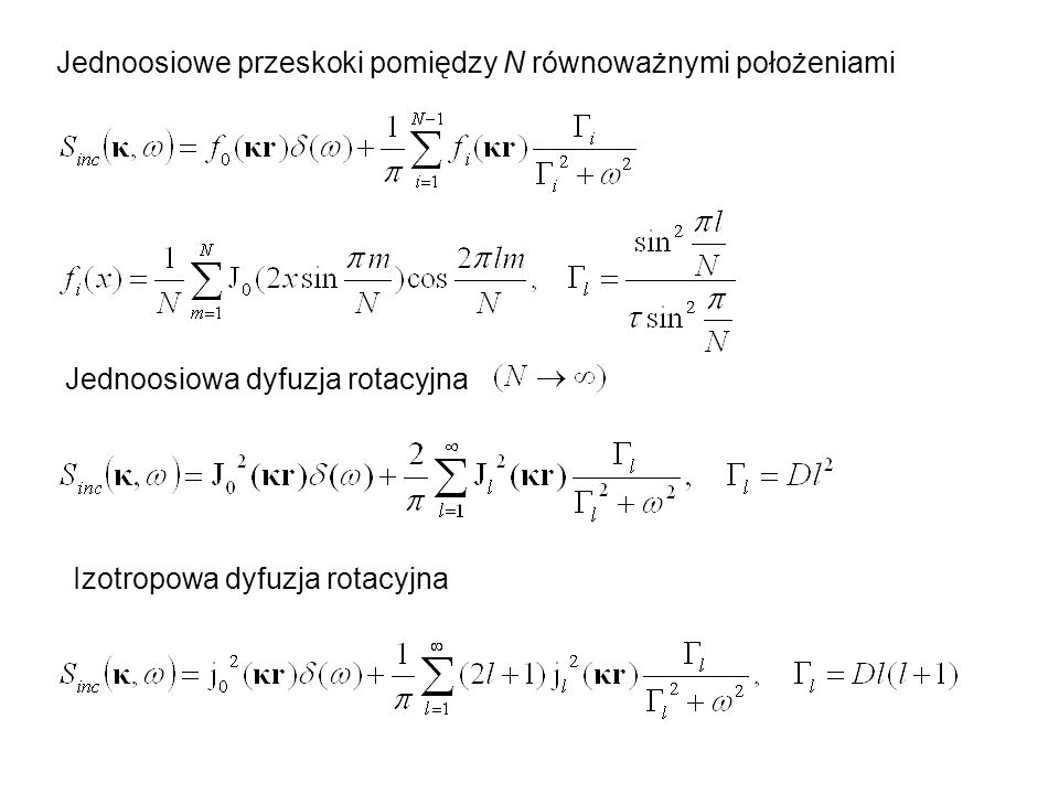 Jednoosiowe przeskoki pomiędzy N równoważnymi położeniami