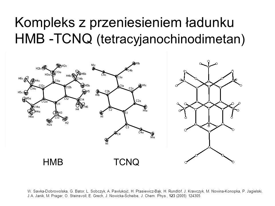 Kompleks z przeniesieniem ładunku HMB -TCNQ (tetracyjanochinodimetan)