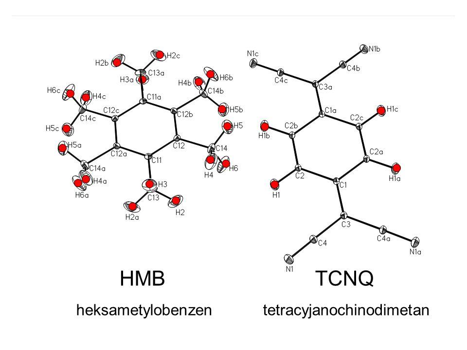HMB TCNQ heksametylobenzen tetracyjanochinodimetan