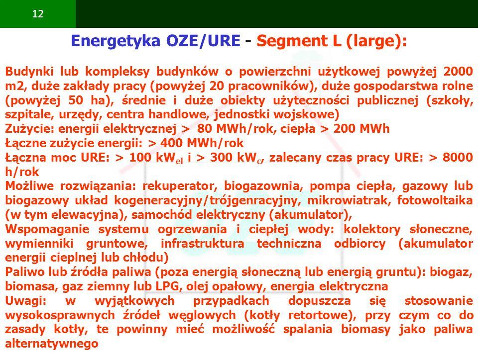 Energetyka OZE/URE - Segment L (large):