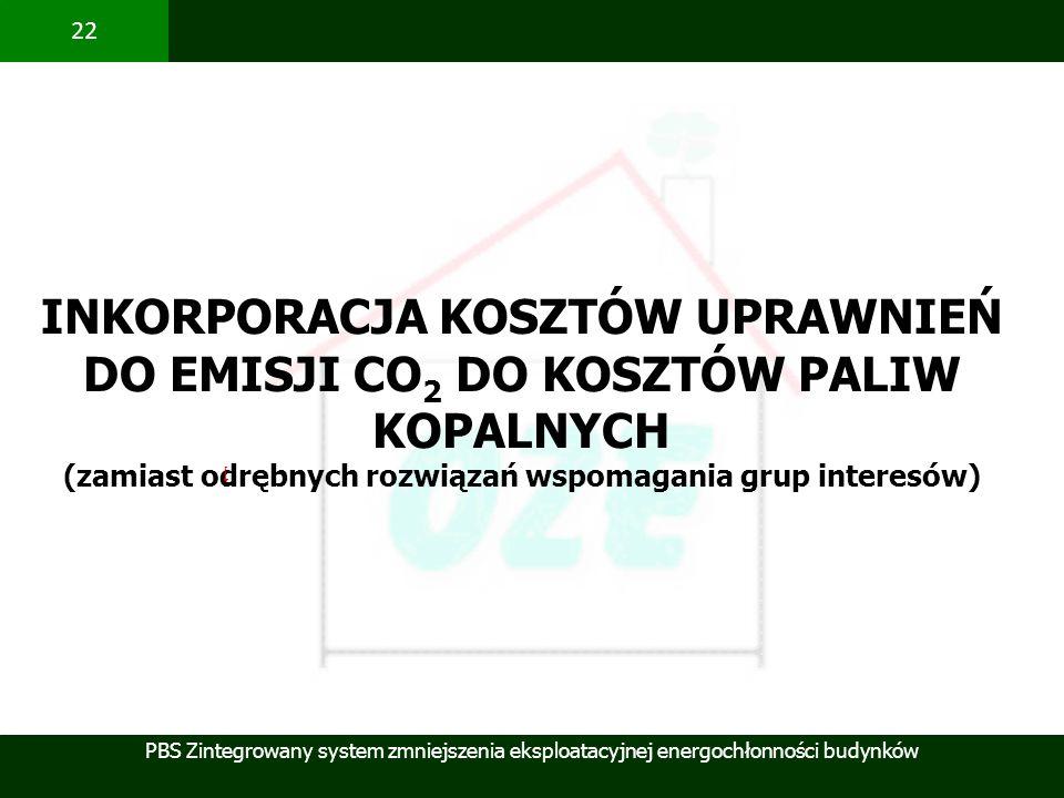 (zamiast odrębnych rozwiązań wspomagania grup interesów)