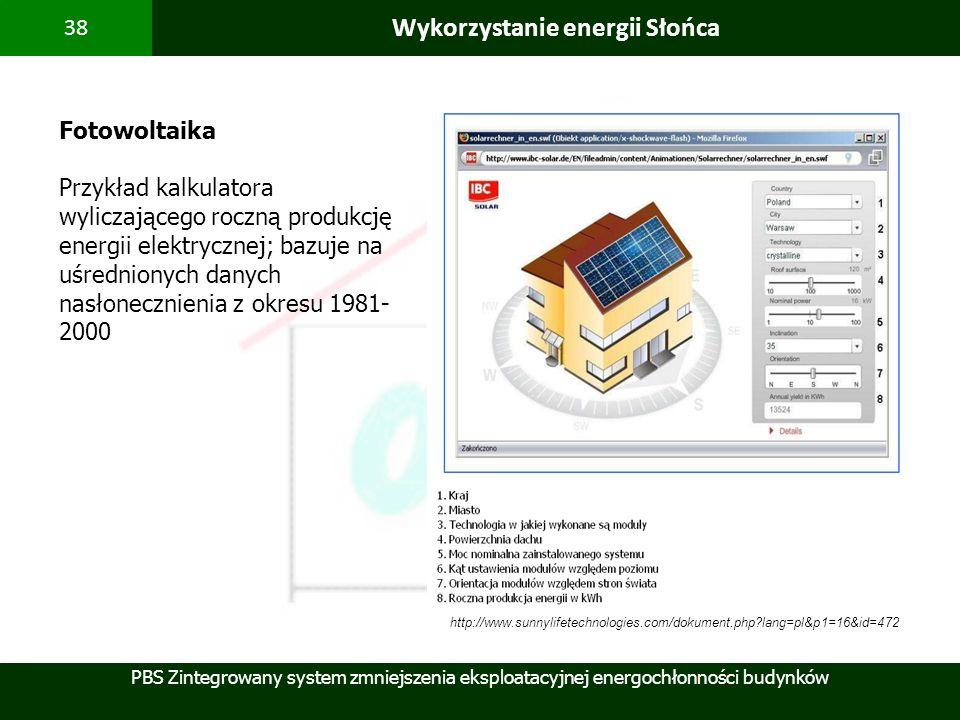 Wykorzystanie energii Słońca