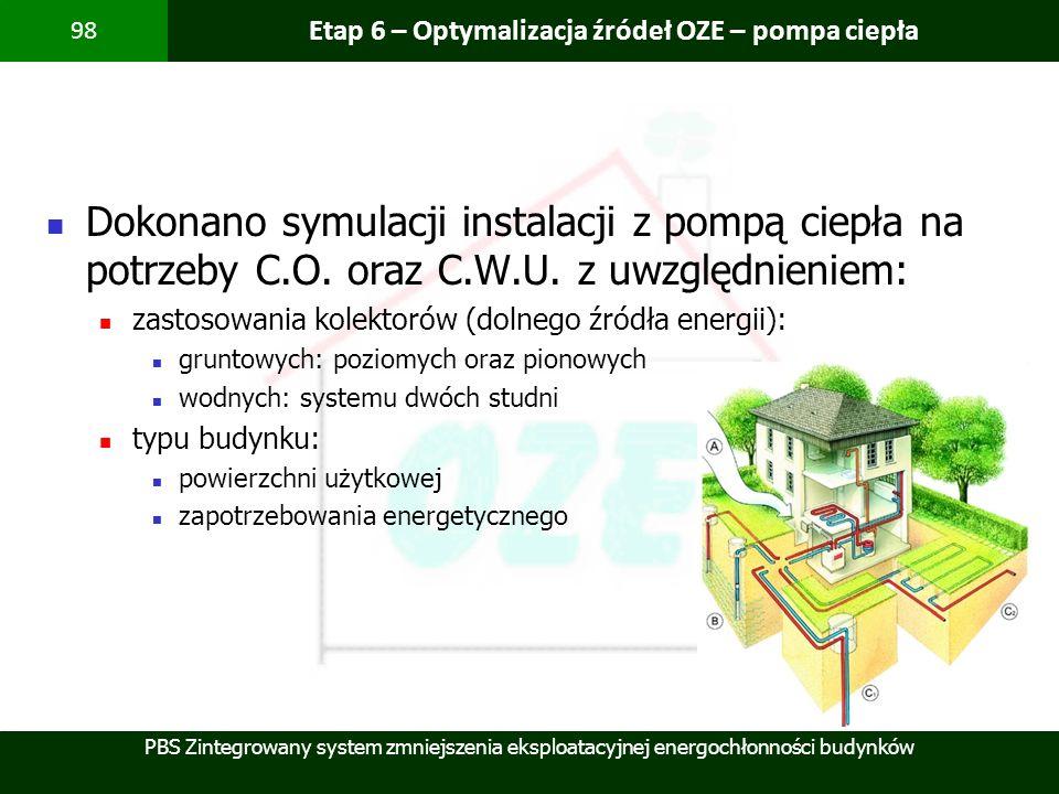 Etap 6 – Optymalizacja źródeł OZE – pompa ciepła