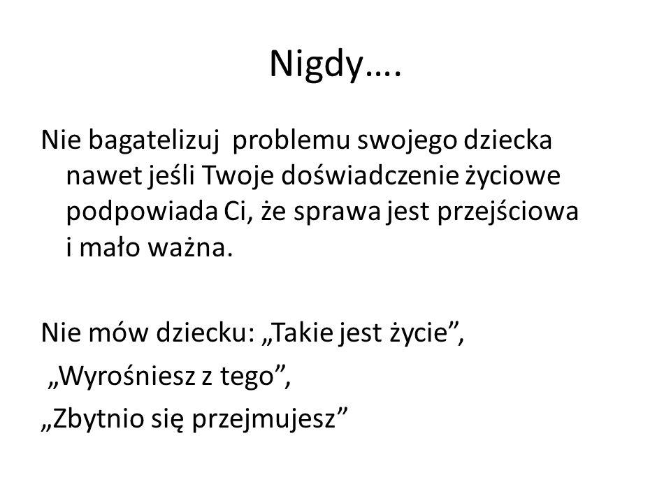 Nigdy….