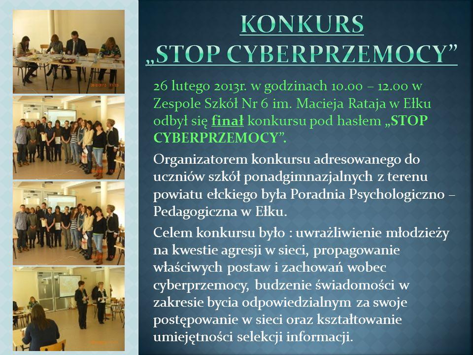 "KONKURS ""STOP CYBERPRZEMOCY"