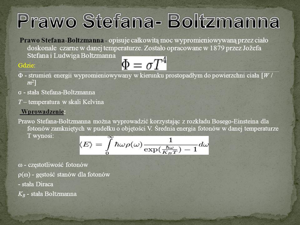 Prawo Stefana- Boltzmanna