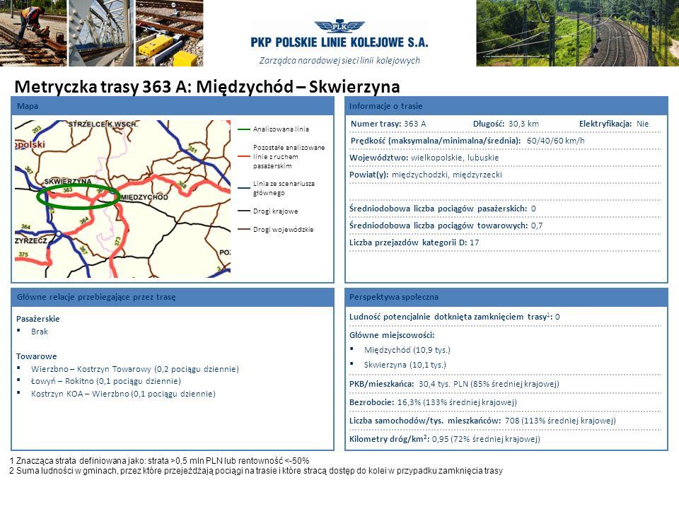 Metryczka trasy 363 A: Międzychód – Skwierzyna