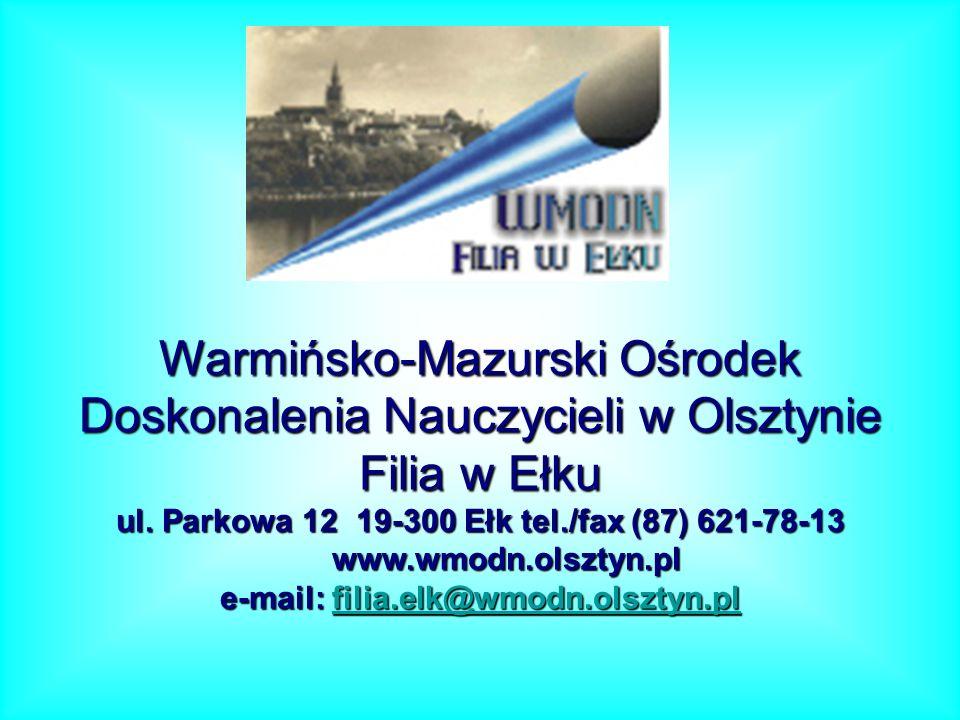 Warmińsko-Mazurski Ośrodek Doskonalenia Nauczycieli w Olsztynie