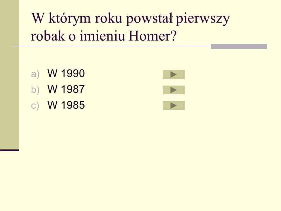 W którym roku powstał pierwszy robak o imieniu Homer
