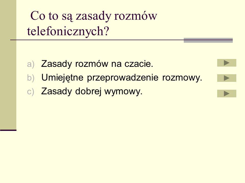 Co to są zasady rozmów telefonicznych