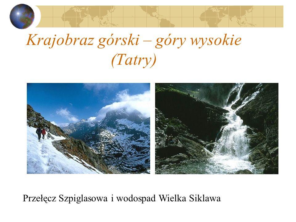 Krajobraz górski – góry wysokie (Tatry)