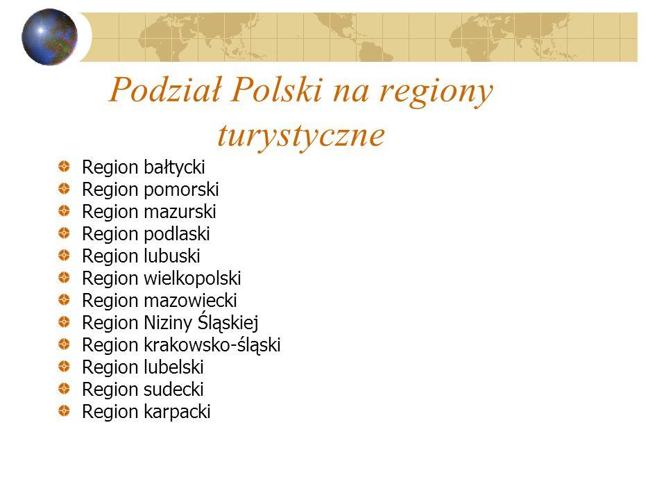 Podział Polski na regiony turystyczne
