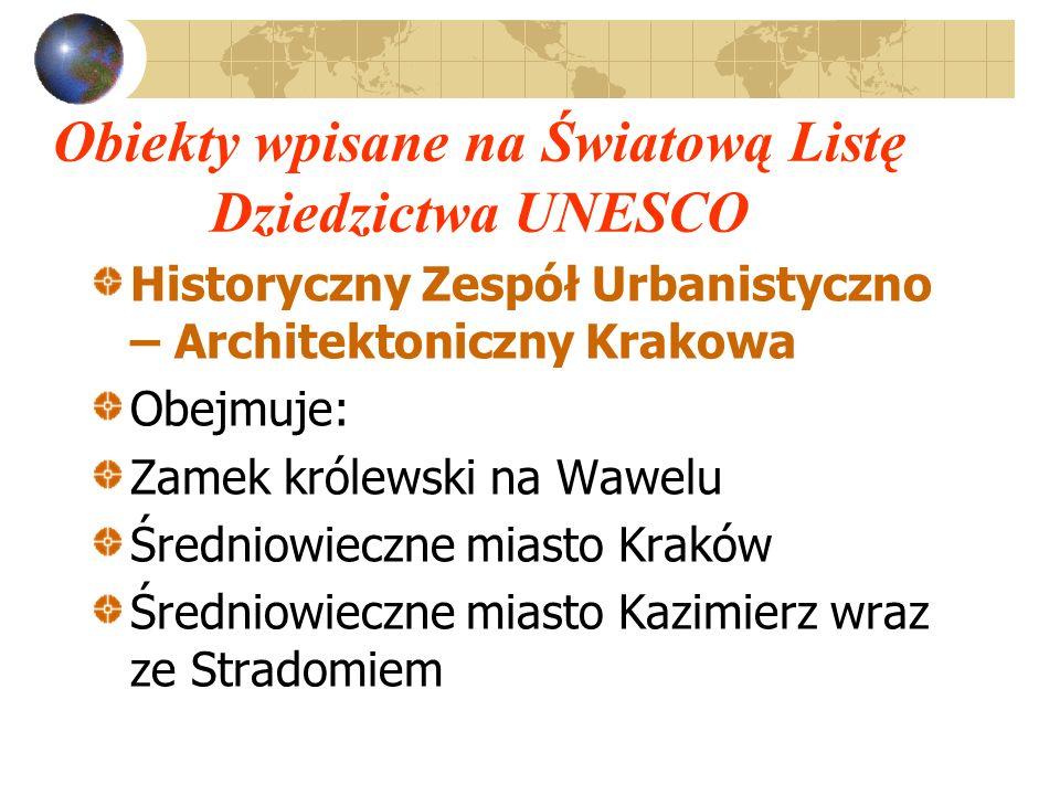 Obiekty wpisane na Światową Listę Dziedzictwa UNESCO