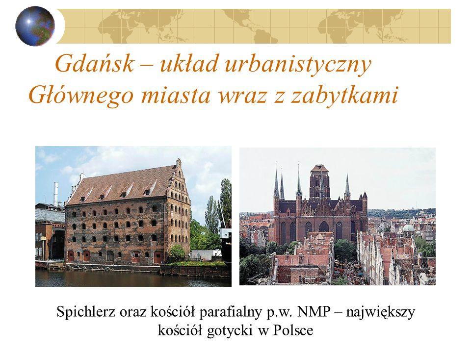 Gdańsk – układ urbanistyczny Głównego miasta wraz z zabytkami