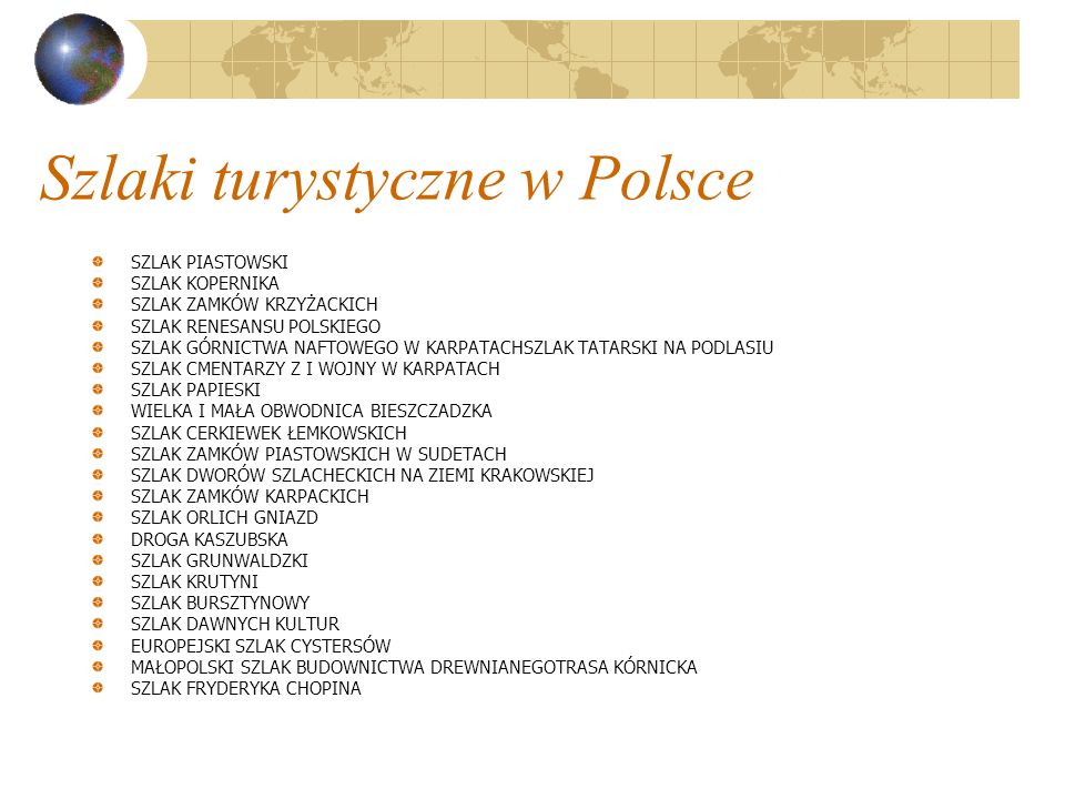 Szlaki turystyczne w Polsce