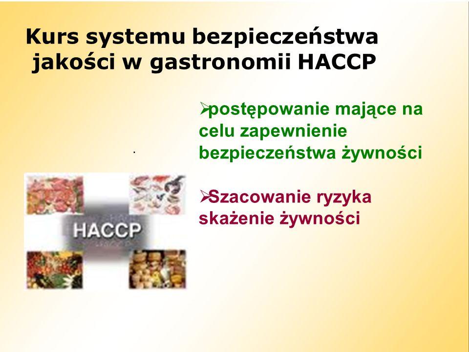 Kurs systemu bezpieczeństwa jakości w gastronomii HACCP