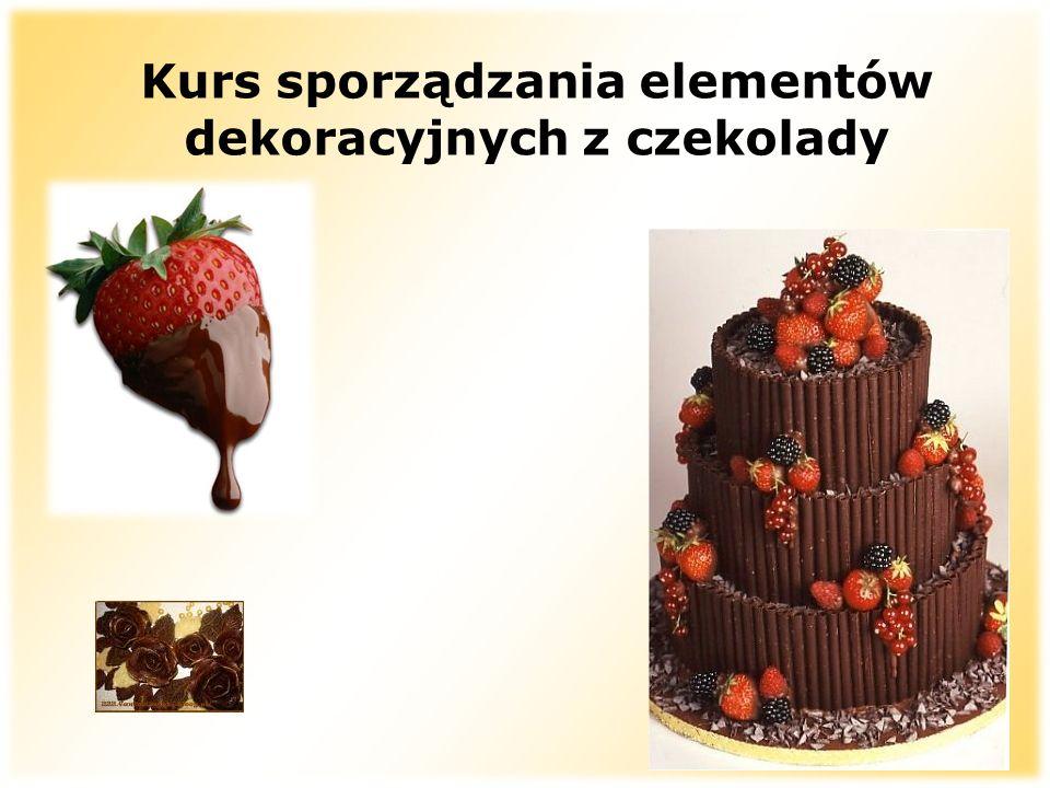 Kurs sporządzania elementów dekoracyjnych z czekolady