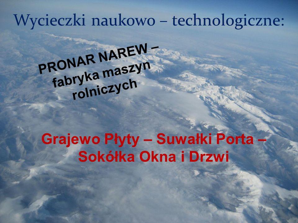Wycieczki naukowo – technologiczne: