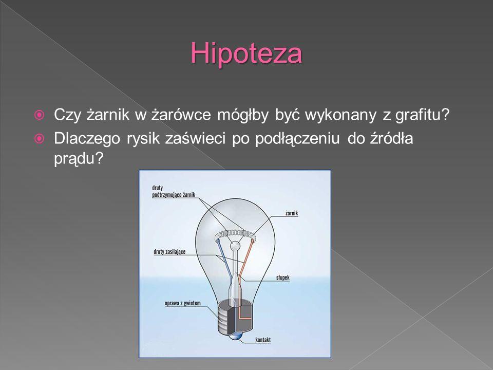 Hipoteza Czy żarnik w żarówce mógłby być wykonany z grafitu