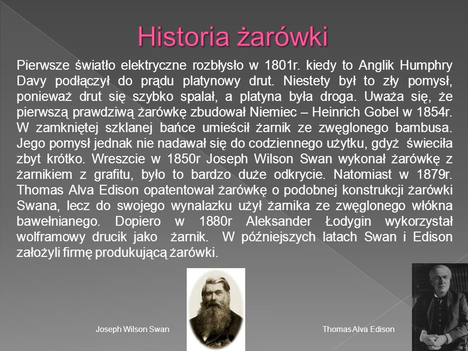 Historia żarówki