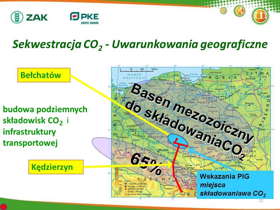Sekwestracja CO2 - Uwarunkowania geograficzne