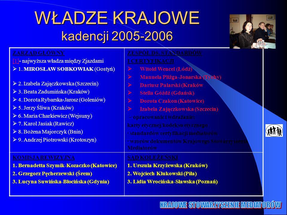 WŁADZE KRAJOWE kadencji 2005-2006