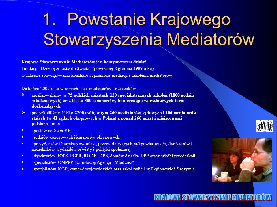 Powstanie Krajowego Stowarzyszenia Mediatorów