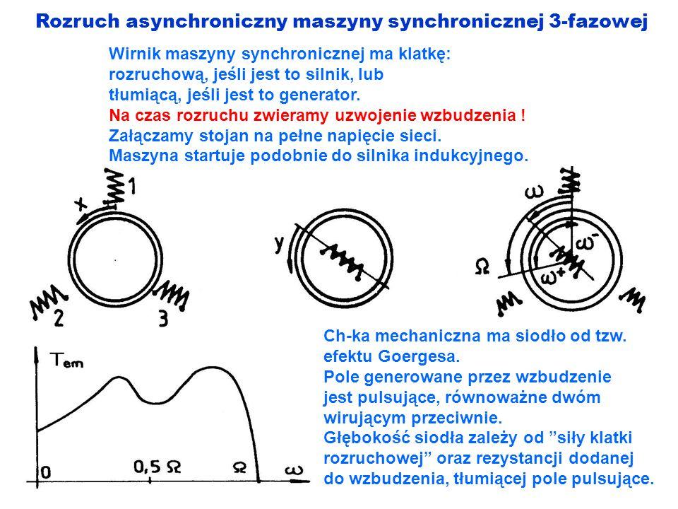 Rozruch asynchroniczny maszyny synchronicznej 3-fazowej