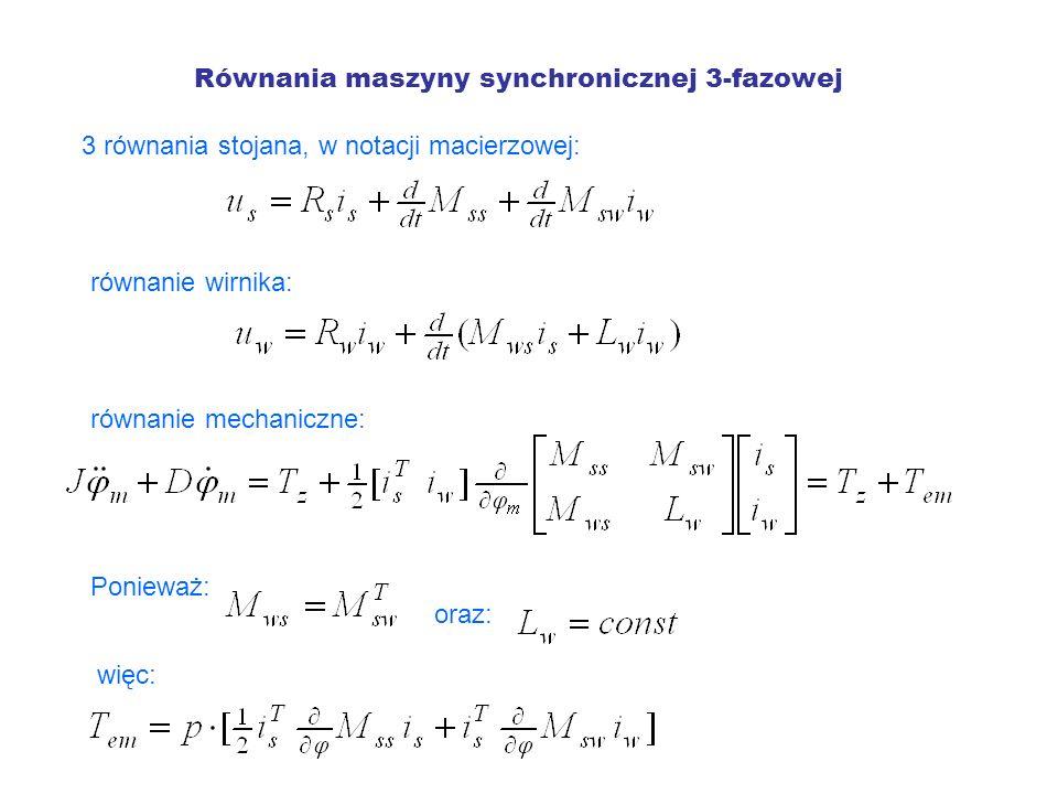 Równania maszyny synchronicznej 3-fazowej