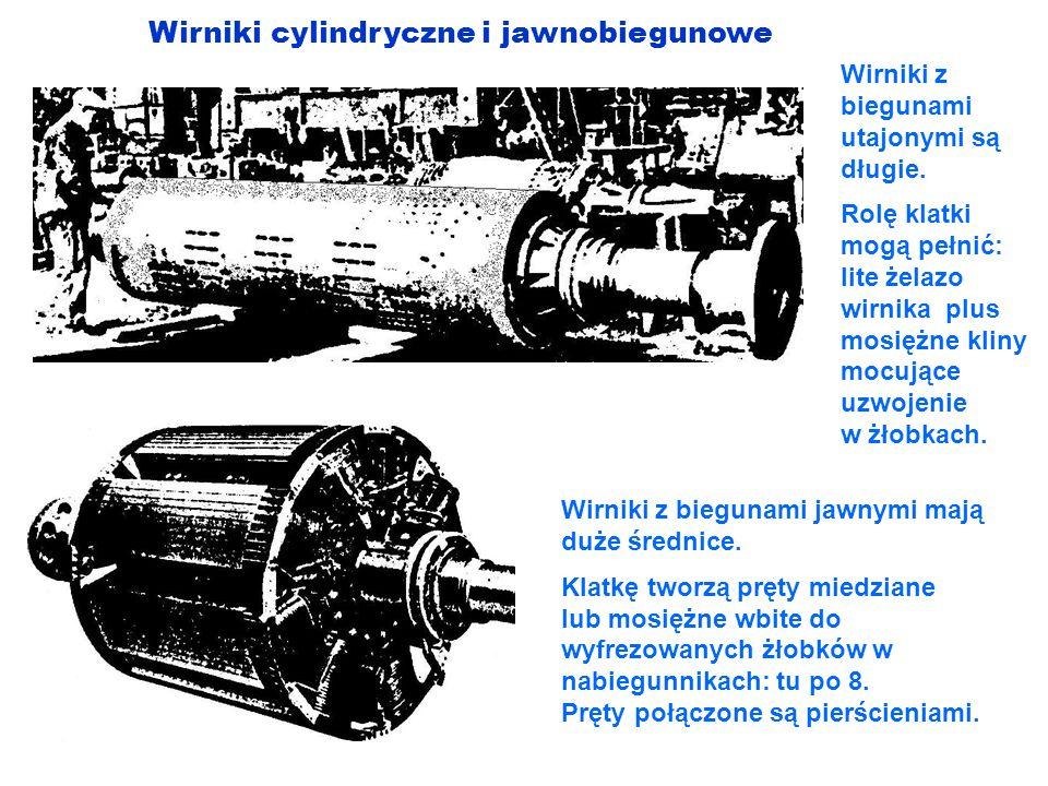Wirniki cylindryczne i jawnobiegunowe
