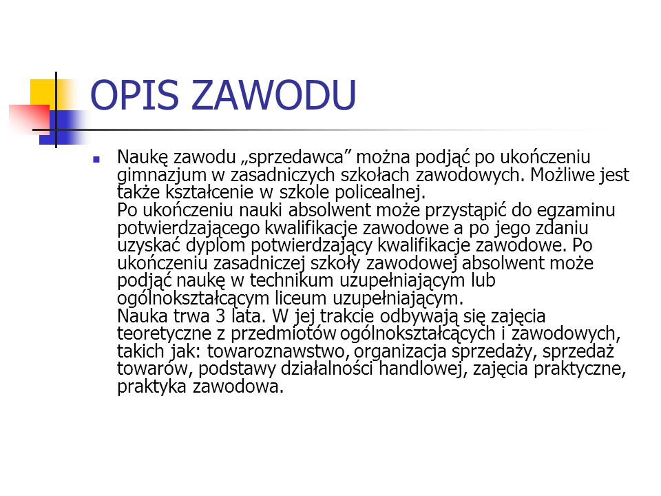 OPIS ZAWODU