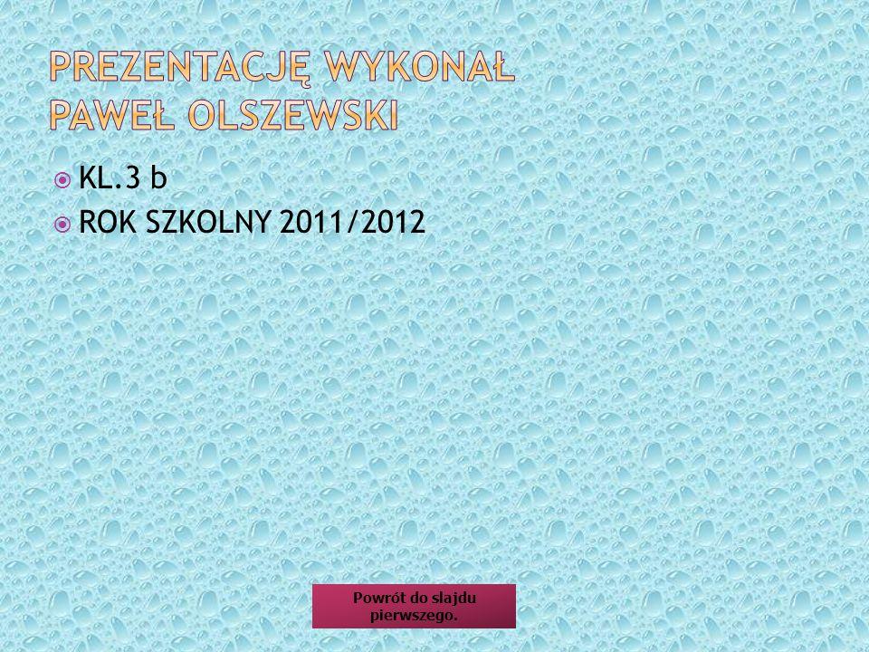 Prezentację wykonał Paweł oLSZEWSKI