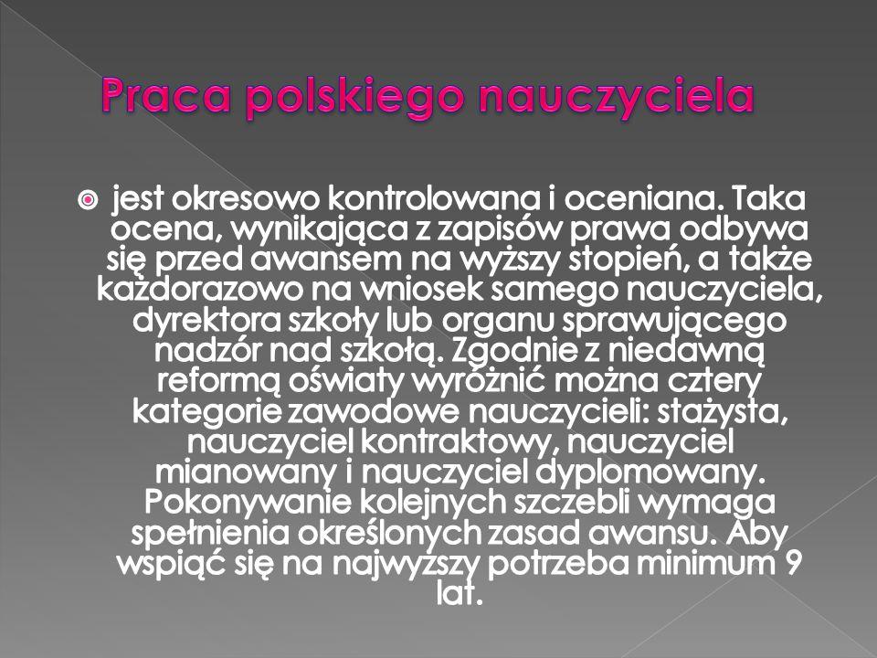 Praca polskiego nauczyciela