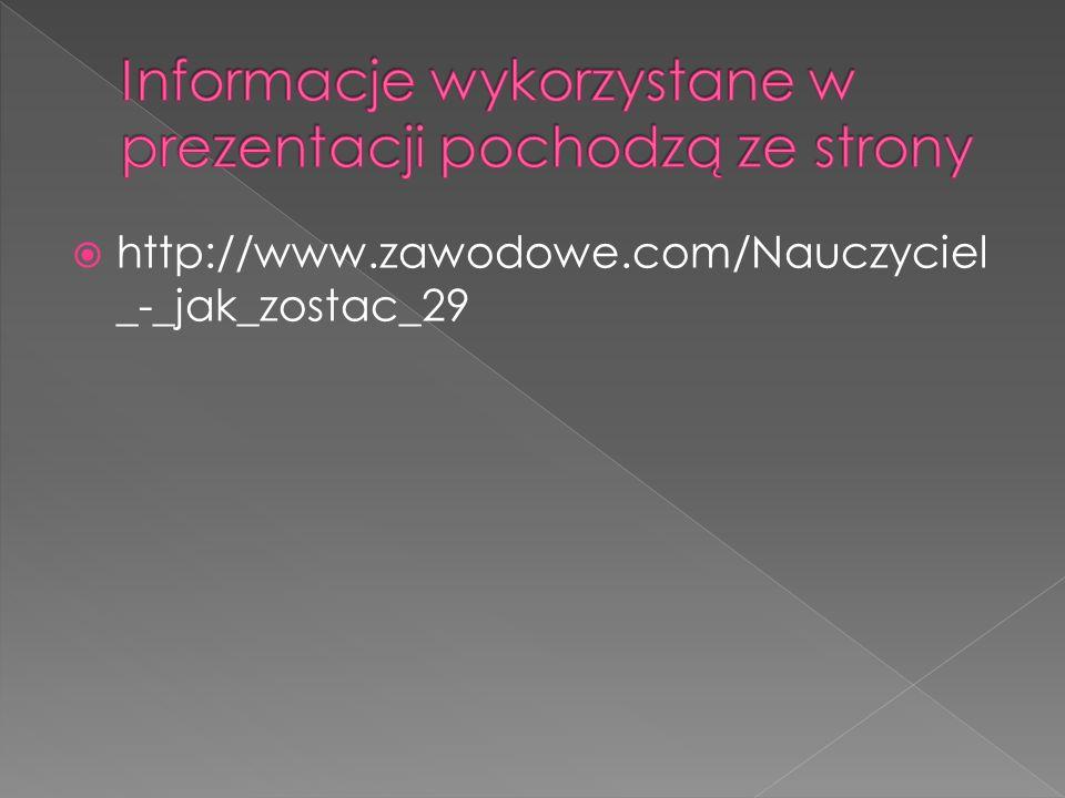 Informacje wykorzystane w prezentacji pochodzą ze strony
