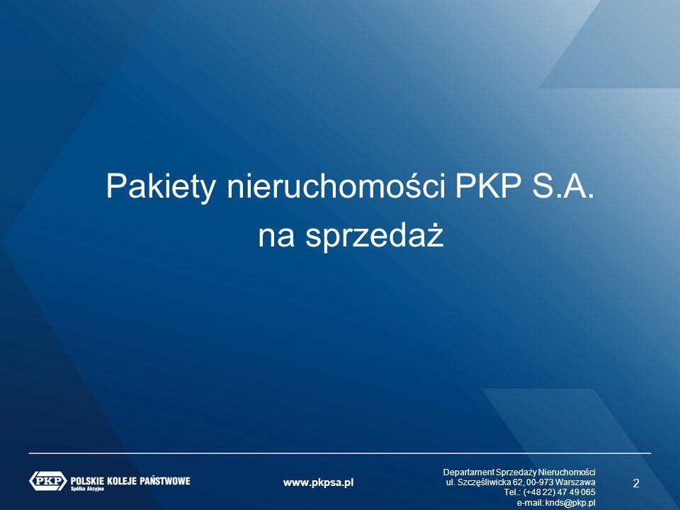 Pakiety nieruchomości PKP S.A.