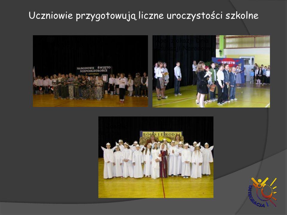 Uczniowie przygotowują liczne uroczystości szkolne