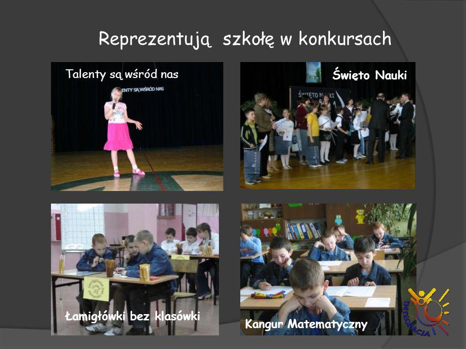Reprezentują szkołę w konkursach