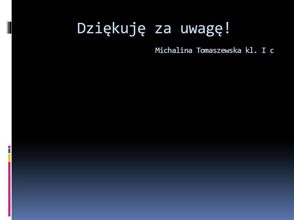 Dziękuję za uwagę! Michalina Tomaszewska kl. I c