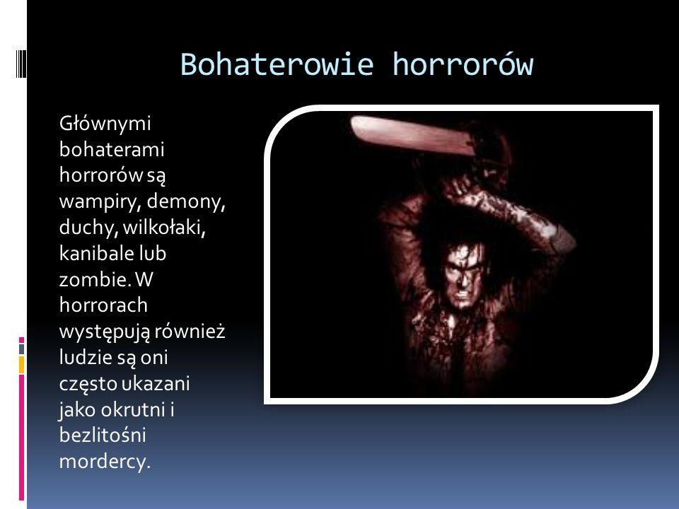 Bohaterowie horrorów