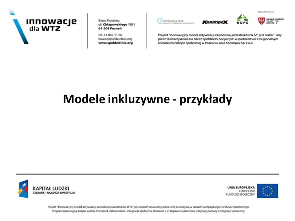 Modele inkluzywne - przykłady