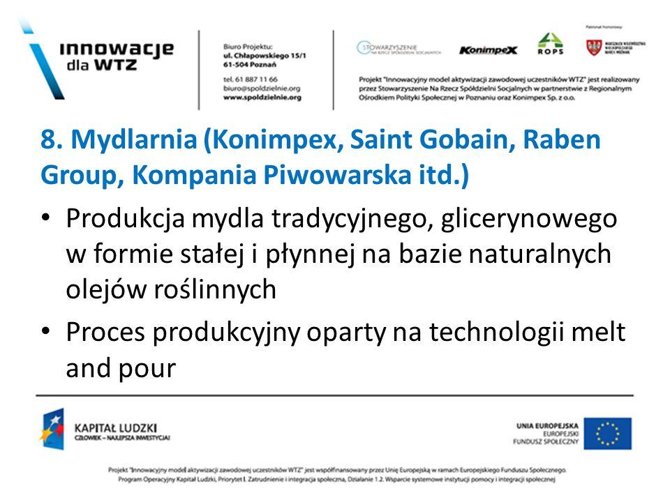 8. Mydlarnia (Konimpex, Saint Gobain, Raben Group, Kompania Piwowarska itd.)