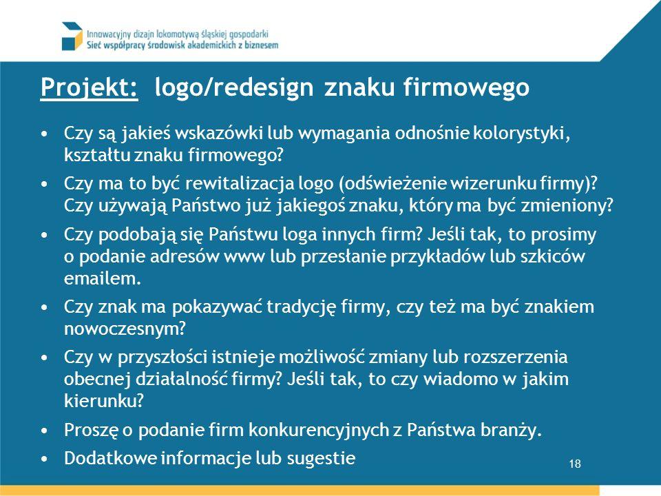Projekt: logo/redesign znaku firmowego