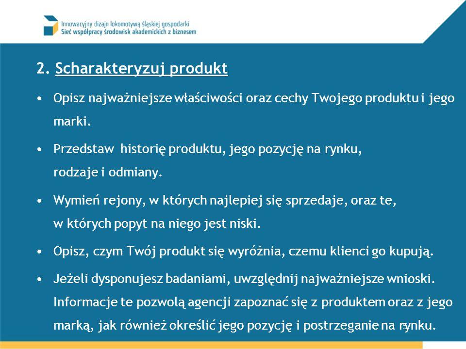 2. Scharakteryzuj produkt
